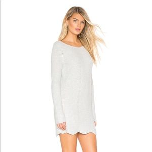 Lovers + Friends Tessellate Sweater Dress in Grey